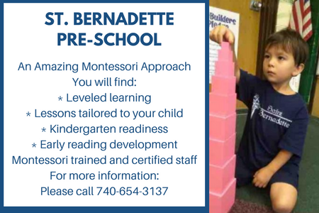 Sign Up for Pre-School at Saint Bernadette School